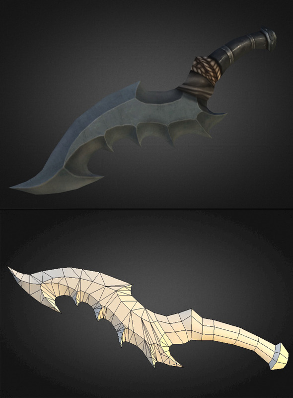 Dagger 04 - 3DOcean Item for Sale