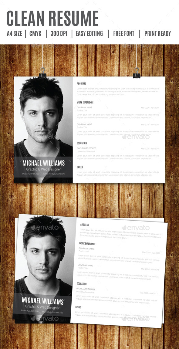 GraphicRiver Clean Resume 9194176