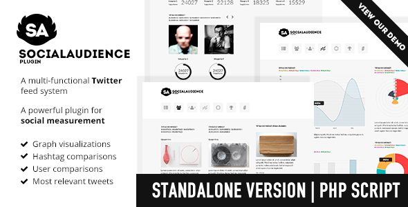 CodeCanyon Social Audience Twitter analytics Standalone 9194264