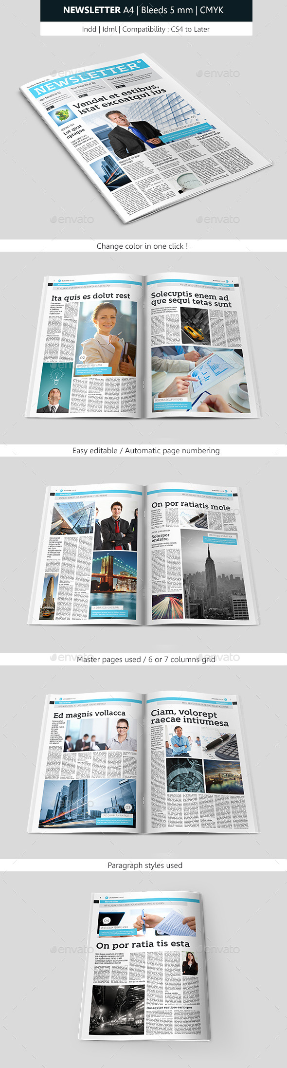 GraphicRiver Creative Indesign Newsletter Template Design 9194384