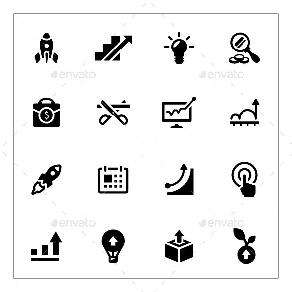 Set Icons of Start-up