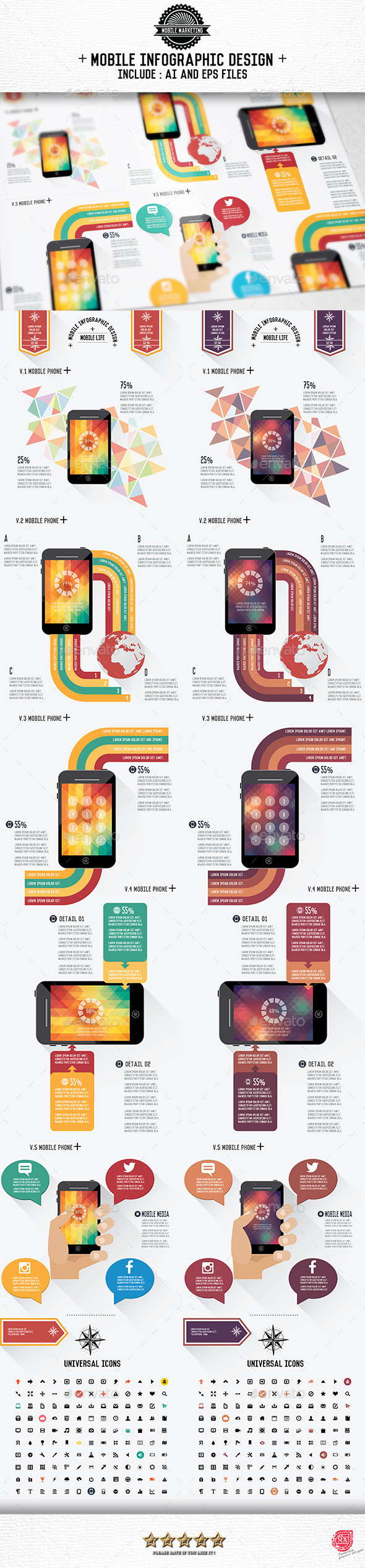 GraphicRiver Mobile Infographic [Update Version2] 9132109