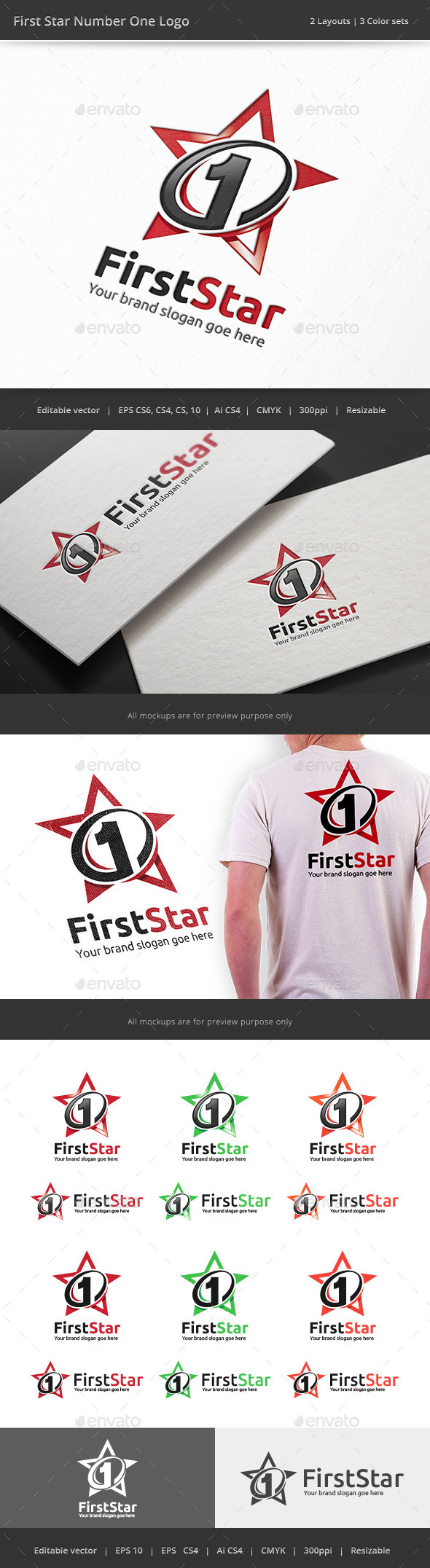 GraphicRiver Number One First Star Logo 9194692