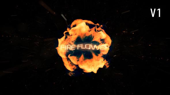 AE模板:爆炸能量火焰火花 燃烧粒子 电影公司标识logo片头展示模板Fire Flower Logo 免费下载