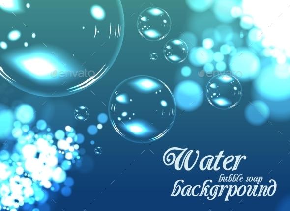 GraphicRiver Bubble Soap Background 9195085