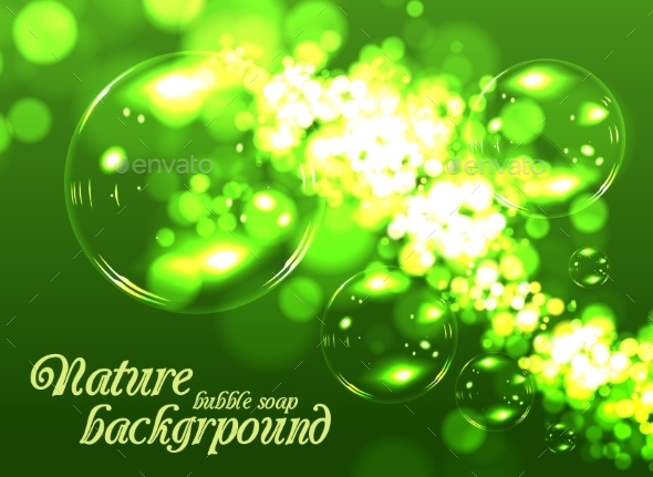 GraphicRiver Bubble Soap Background 9195097
