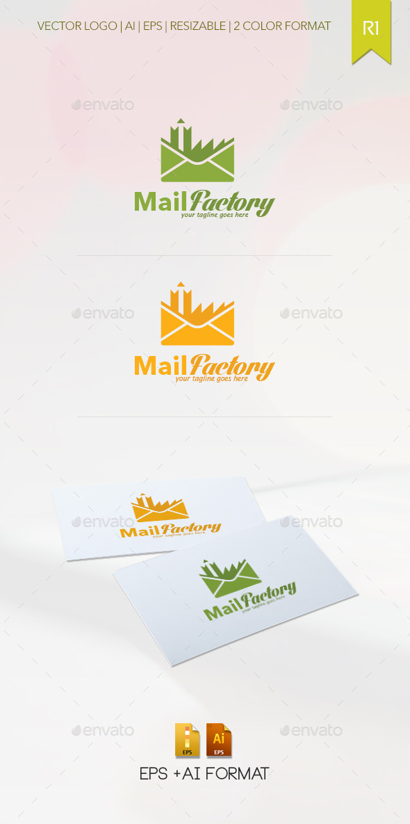 GraphicRiver Mail Factory Logo Template 9158277