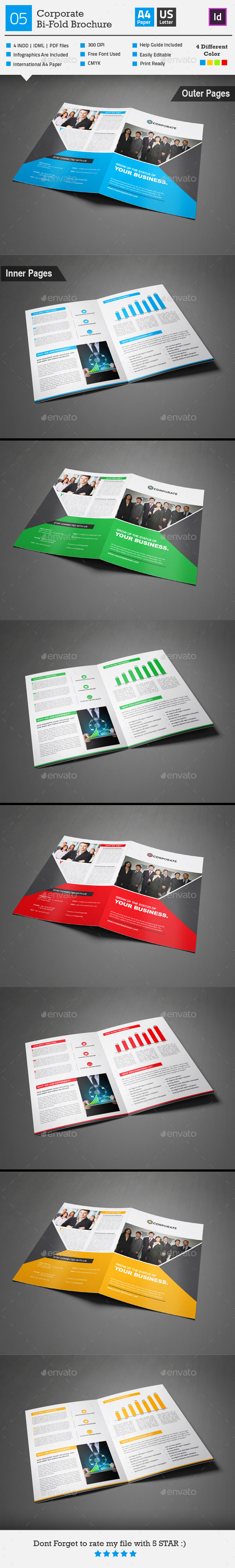 GraphicRiver Corporate Bi-fold Brochure 05 9195245