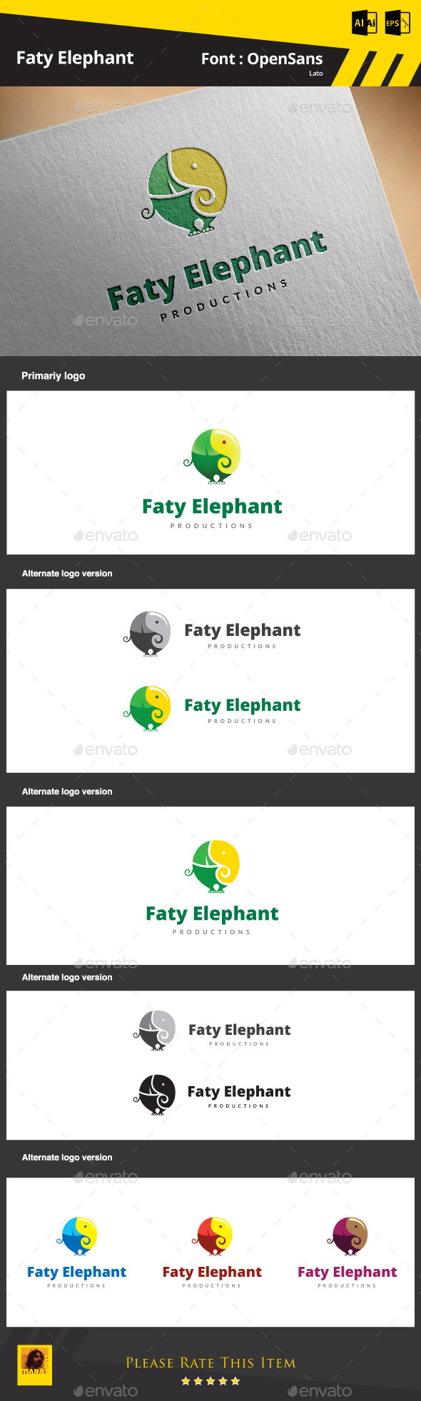 GraphicRiver Elephant Logo 8823200