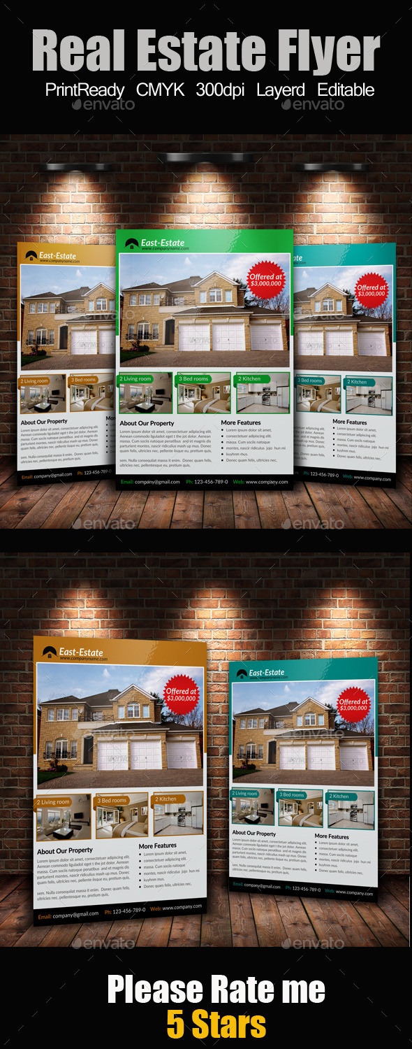 GraphicRiver A4 Real Estate Flyer 9157598