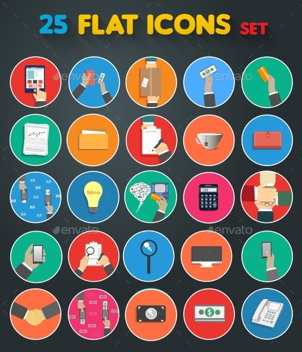 GraphicRiver Set of Business Icons 9195307