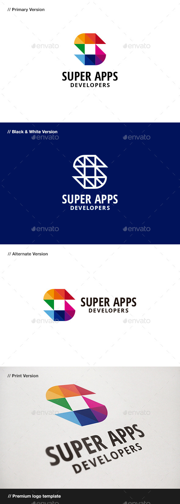 GraphicRiver Super Apps Abstract & Letter S Logo 9195329