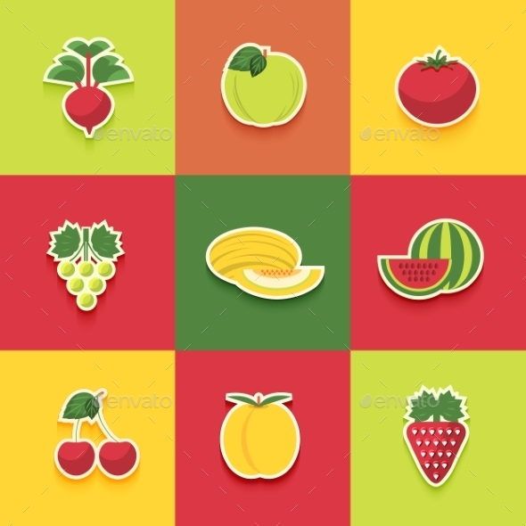 GraphicRiver Food Icons Set 9195355