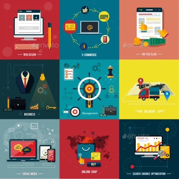 GraphicRiver Icons for Web Design Seo Social Media 9195479