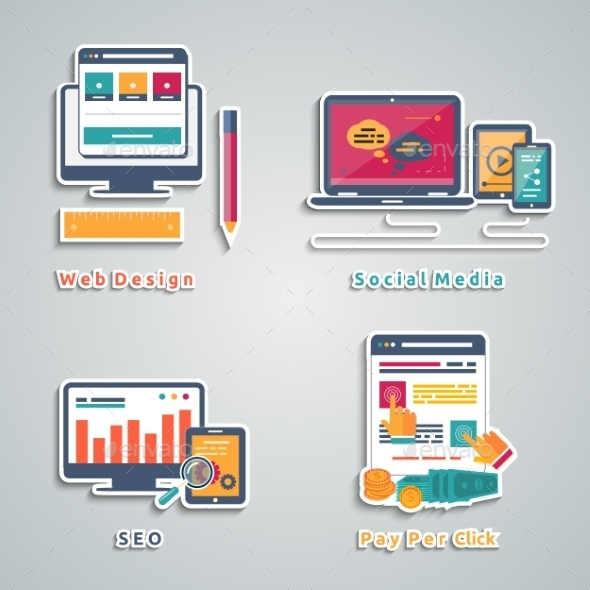 GraphicRiver Web Design Seo Social Media Icons 9195488