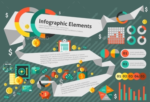 GraphicRiver Finance Infographic Set 9195508