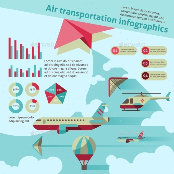GraphicRiver Air Transport Infographics 9195524