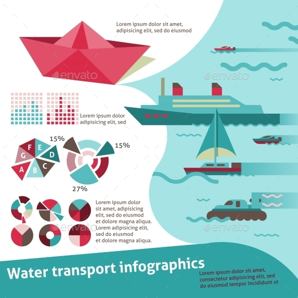 GraphicRiver Water Transport Infographics 9195537