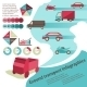 Ground Transport Infographics - GraphicRiver Item for Sale