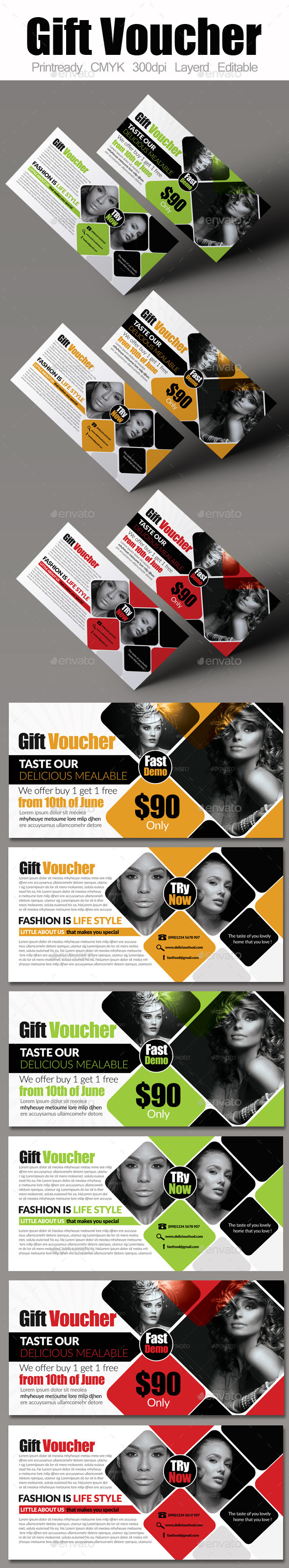 GraphicRiver Multi Use Business Gift Voucher 9150772