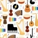 Musical Instruments Seamless Pattern - GraphicRiver Item for Sale