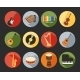 Flat Musical Icons - GraphicRiver Item for Sale
