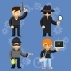 Vector Characters Involved in Criminal Activities - GraphicRiver Item for Sale