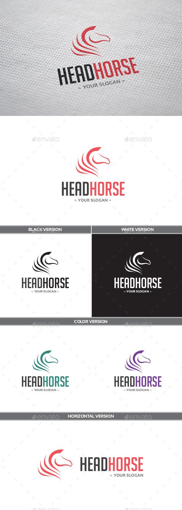 GraphicRiver HeadHorse Logo 9195771