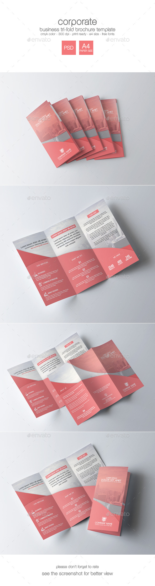 GraphicRiver Corporate Tri-Fold Brochure 9195860