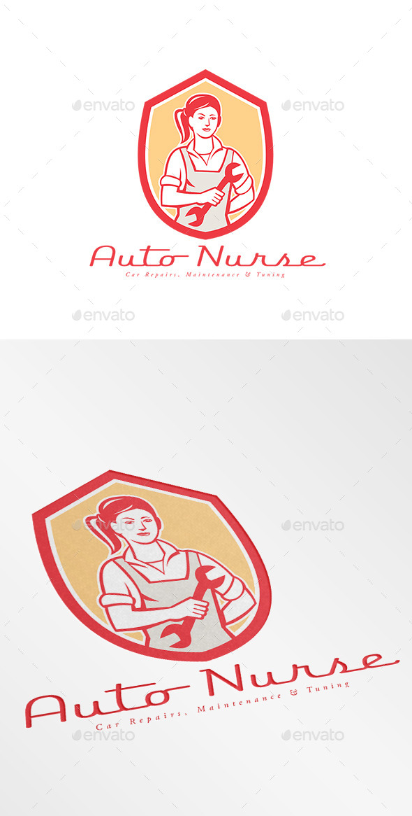GraphicRiver Auto Nurse Car Maintenance Logo 9195866