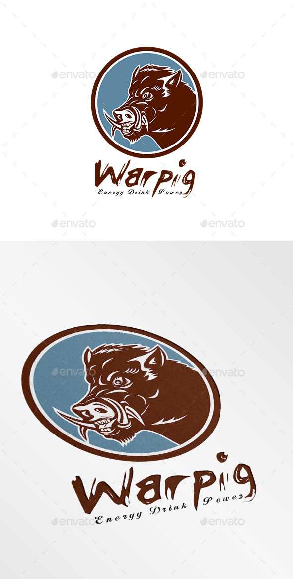 GraphicRiver Warpig Energy Drink Logo 9195886