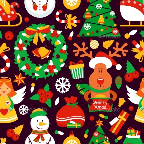 GraphicRiver Christmas Seamless Pattern 9195907