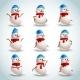 Snowman Emotions Set - GraphicRiver Item for Sale