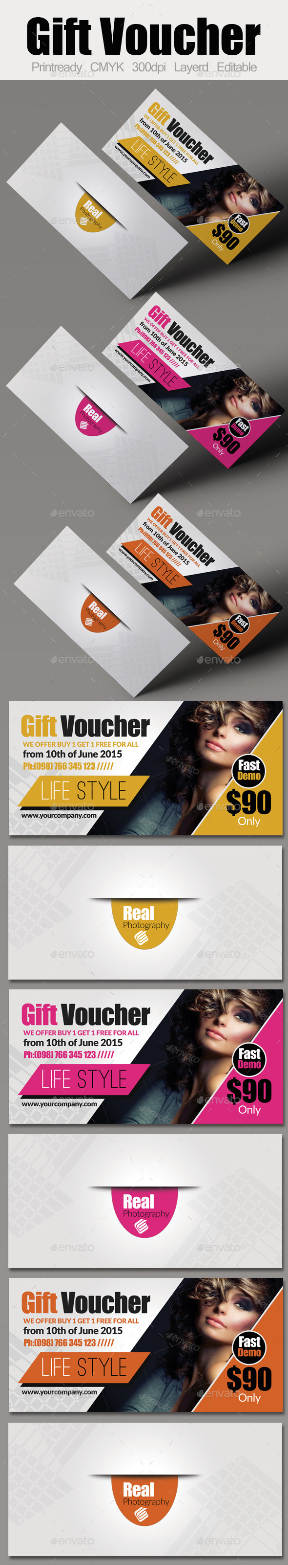 GraphicRiver Simple & Clean Flexible Gift Voucher 9158429
