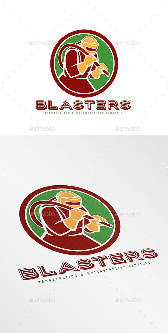 GraphicRiver Blasters Sandblasting Logo 9195982