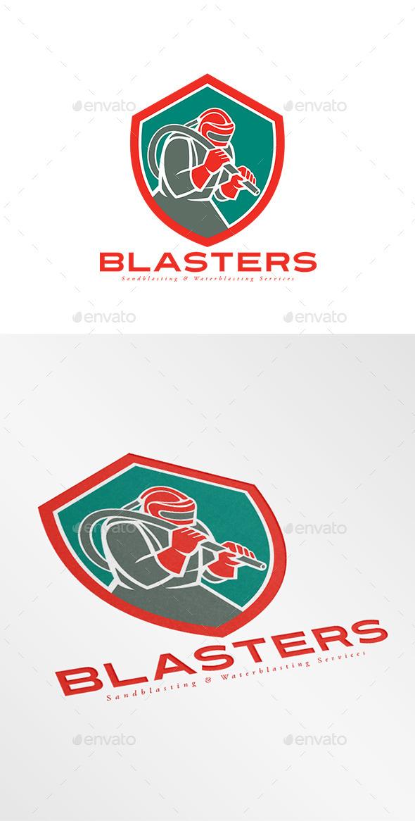 GraphicRiver Blasters Sandblasting Services Logo 9195986