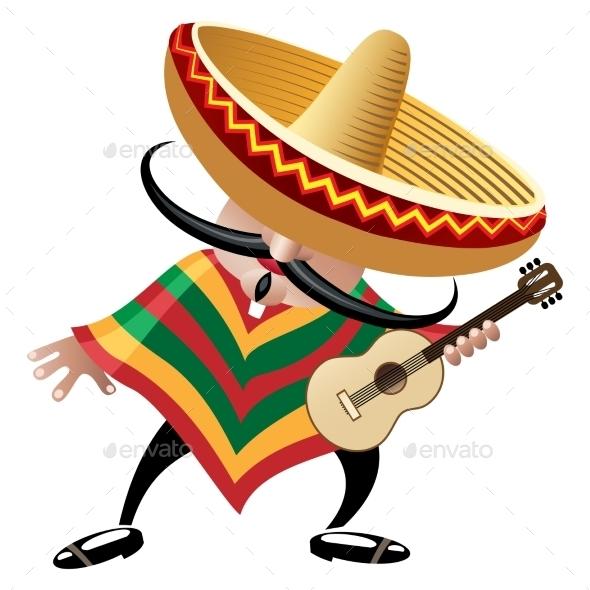 GraphicRiver Mexican Musician 9195991