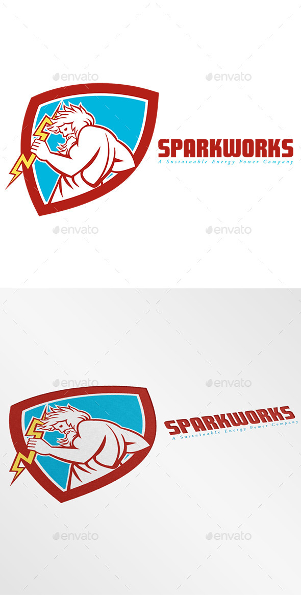 GraphicRiver Sparkworks Power Company Logo 9196090