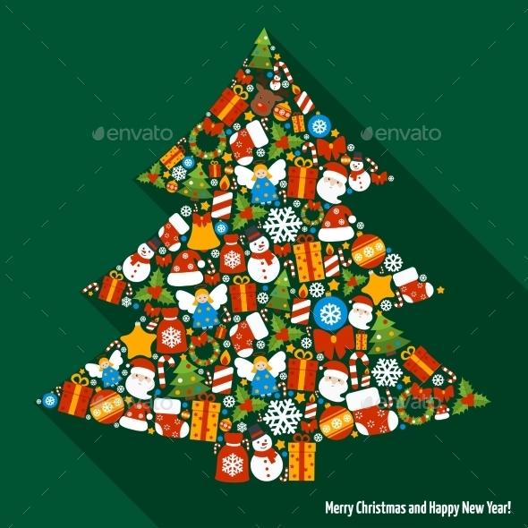 GraphicRiver Christmas Pine Tree 9196121
