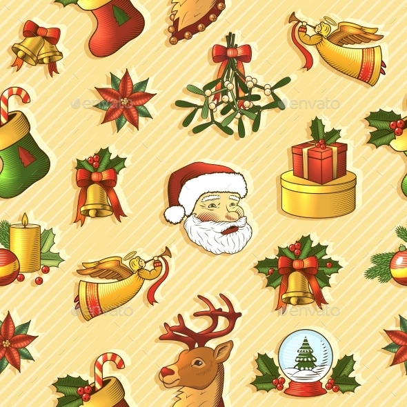 GraphicRiver Christmas Seamless Pattern 9196130
