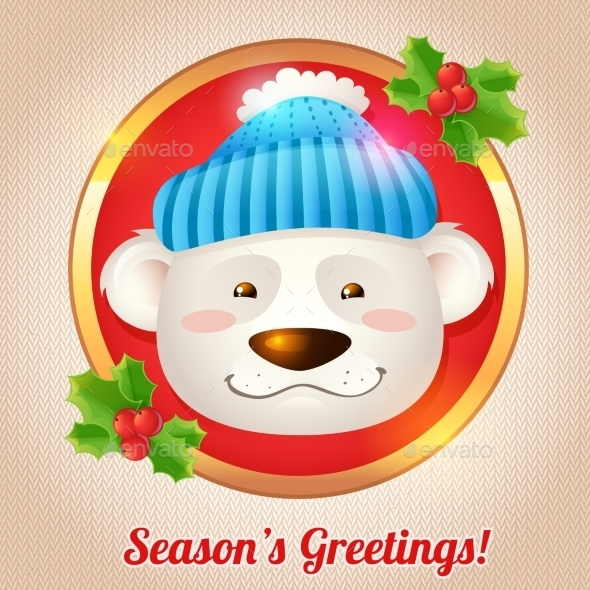 GraphicRiver Christmas Bear Card 9196136