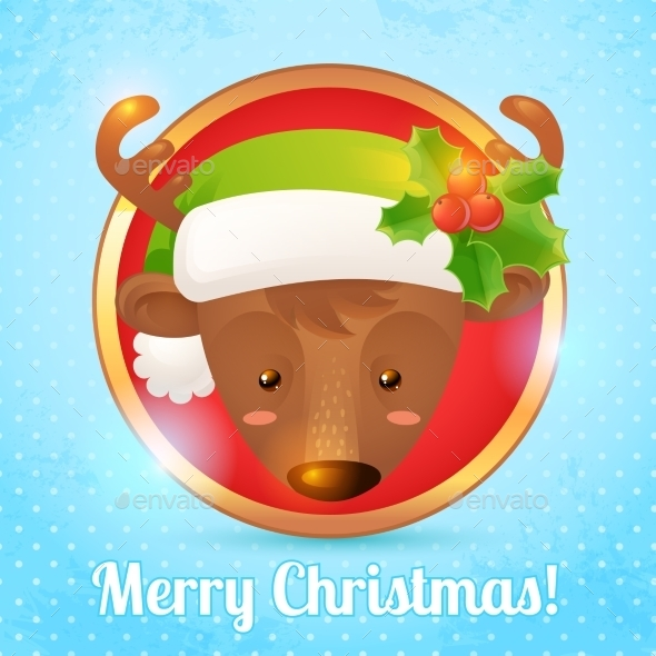 GraphicRiver Christmas Deer Card 9196137