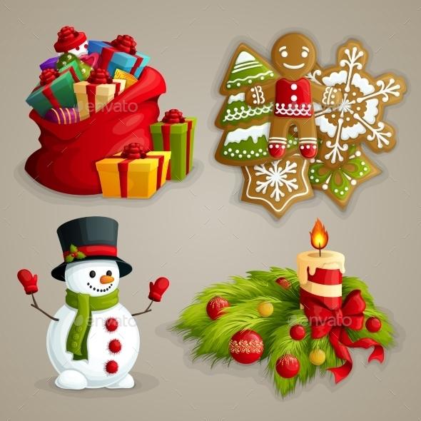 GraphicRiver Christmas Icons Set 9196141
