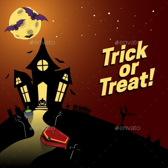 GraphicRiver Halloween Background 9196157