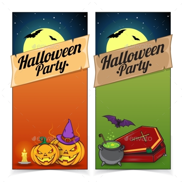 GraphicRiver Halloween Banners or Flyers Concept 9196164