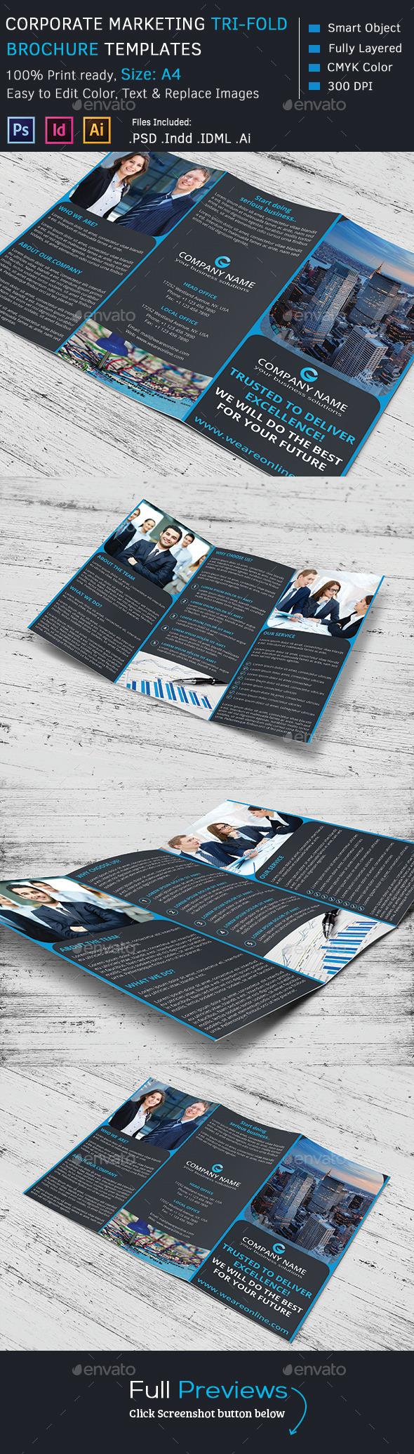 GraphicRiver Corporate Marketing Tri-Fold Brochure 9196199