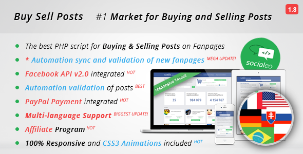 Buy Sell Posts on Facebook Fanpages, Facebook Ads - CodeCanyon Item for Sale