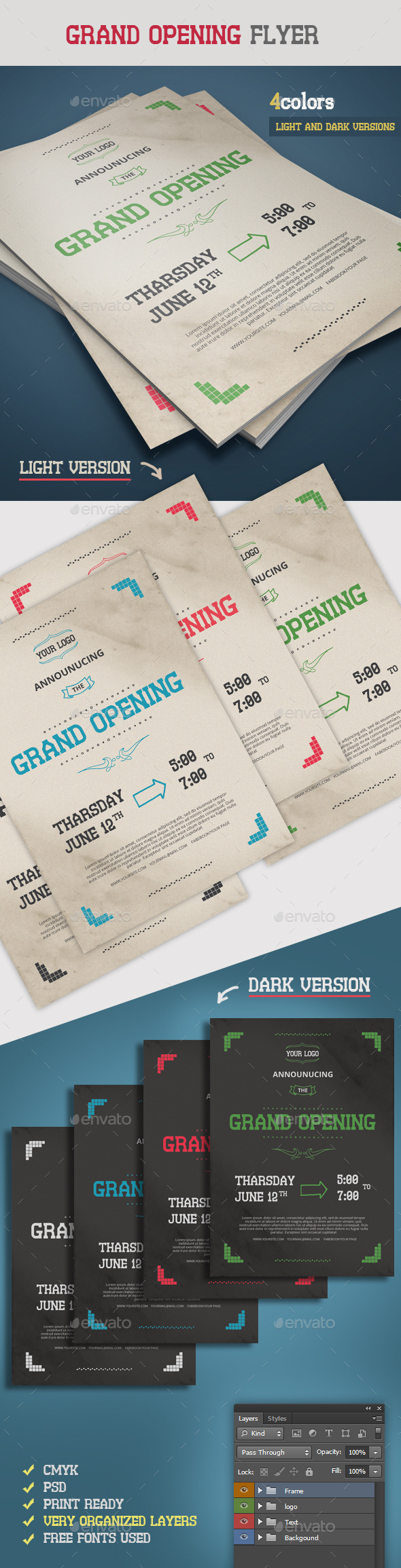 GraphicRiver Retro Grand Opening Flyer 9196222