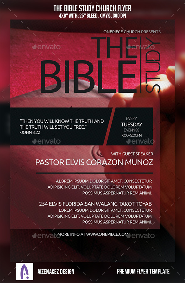 GraphicRiver The Bible Study Church Flyer 9175008