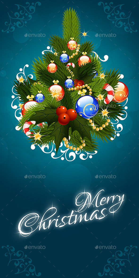 GraphicRiver Christmas Greeting Card Merry Christmas Lettering 9196896